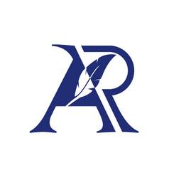 ar notary logo vector image