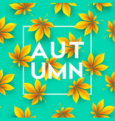 autumn background with fall leaves vector image