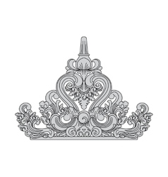 Balinese style The top of the roof decoration vector