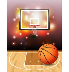 Basketball Court and Hoop vector