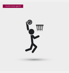 basketball player icon simple sportsman element vector image