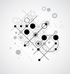 Bauhaus retro wallpaper art black and white vector