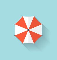 Beach umbrella web flat icon vector image