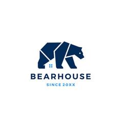 bear house logo icon vector image