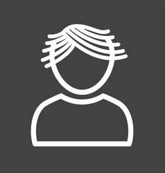 Boy with wavy hair vector