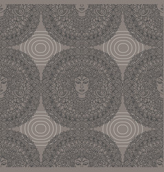 Buddha seamless pattern mandala background vector