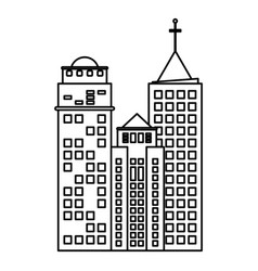 building hotel business skyscraper line vector image