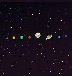 cartoon solar system vector image