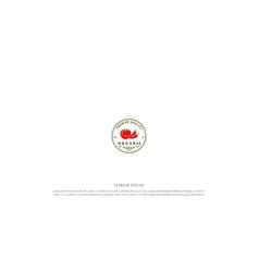 circular vintage retro red chili and tomato vector image