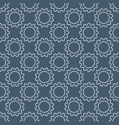 cog wheel or gear concept seamless pattern vector image