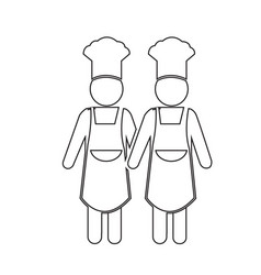 cooking chef people icon design vector image