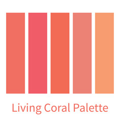 coral color palette color gradation swatch coral vector image