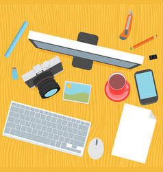 designer desk photographer collections of flat vector image