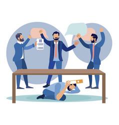 Dispute conflict in company vector