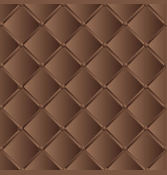 Drawing of the dark brown quilted leather vector