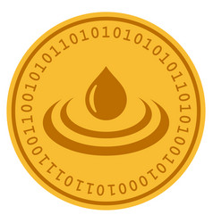 drop ripple digital coin vector image