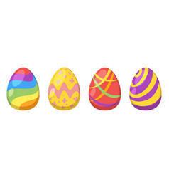 easter colorful painted eggs vector image