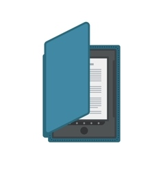 Electronic mobile book with cover isolated icon vector