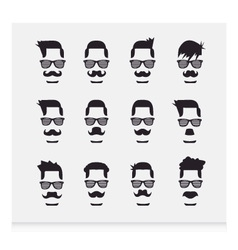 Face with Mustaches hipster vector