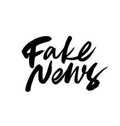 fake news ink pen lettering vector image