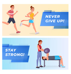 fitness banners set vector image