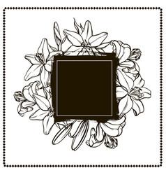 floral banner lily frame vector image