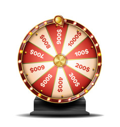 fortune wheel spinning lucky roulette vector image