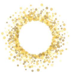 Frame or border of random scatter snowflakes vector