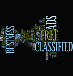 Free classified ads text background word cloud vector