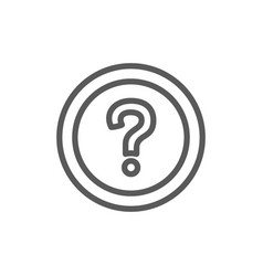frequently asked questions faq line icon vector image