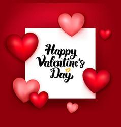 Happy valentines day paper vector