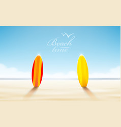 holidays design realistic beach sunny vector image