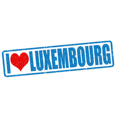 I love luxembourg stamp vector