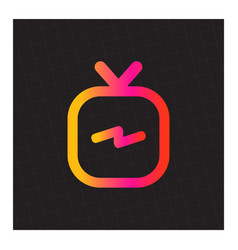igtv icon set vector image