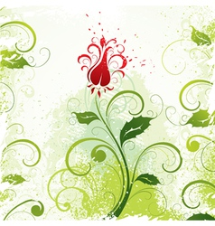 illustrated floral design vector image