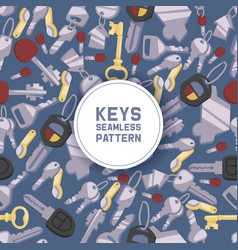 key seamless pattern house keys lock for vector image