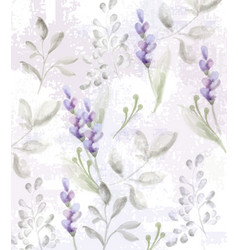 lavender pattern watercolor provence vector image