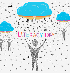 Literacy day concept for children education vector