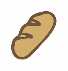 loaf freehand vector image