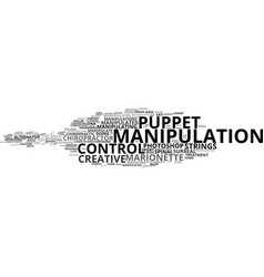 Manipulation word cloud concept vector