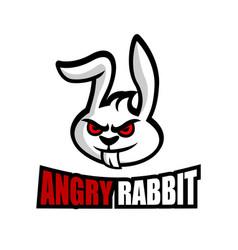modern angry rabbit logo vector image