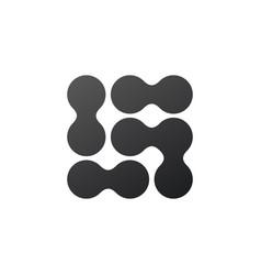molecule logo design element connected dots vector image