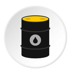 Oil icon circle vector