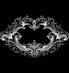 one color ornate frame vector image
