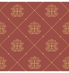Pattern seamless baroque style vector image