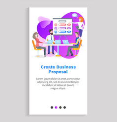 people working with laptop business online vector image