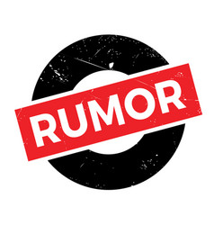 rumor rubber stamp vector image