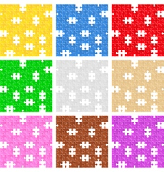 seamless puzzle backgrounds vector image vector image