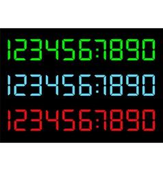 set of digital numbers vector image