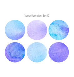 set round watercolor backgrounds vector image